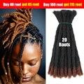 Плетение Омбре, цветной хвост волос, дреды ручной работы, наращивание волос, синтетические волосы крючком для мужчин и женщин, мужские 10 дюй...
