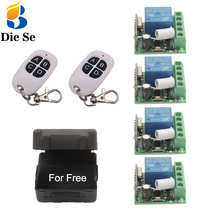 433MHz Universal Wireless Remote Switch DC12V 10A 1CH rf Relay and Transmitter for Remote Light led Lamp Home appliance Control cheap Diese 433Mhz Remote Control Plastic 1 Year KR1201+EV41527 more than 50M in open area DC 12V 1V-250V Less than 5mA -30~+80
