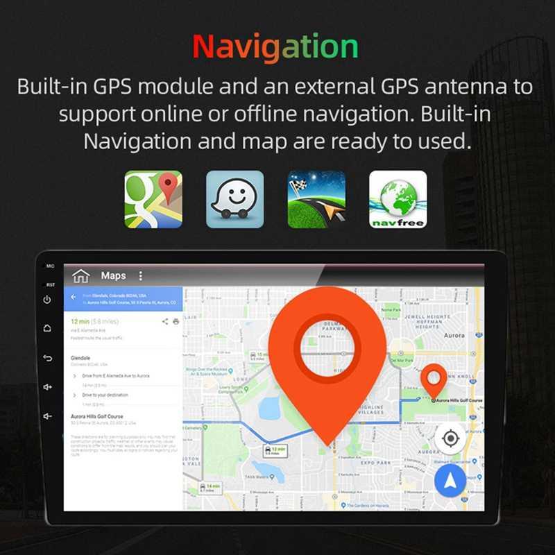2Din Android 9.0 4G + 64G PX6 6 Nhân Radio Stereo GPS Dẫn Đường Đa Phương Tiện Xe Ô Tô Đa Năng wifi Bluetooth Âm Thanh Video