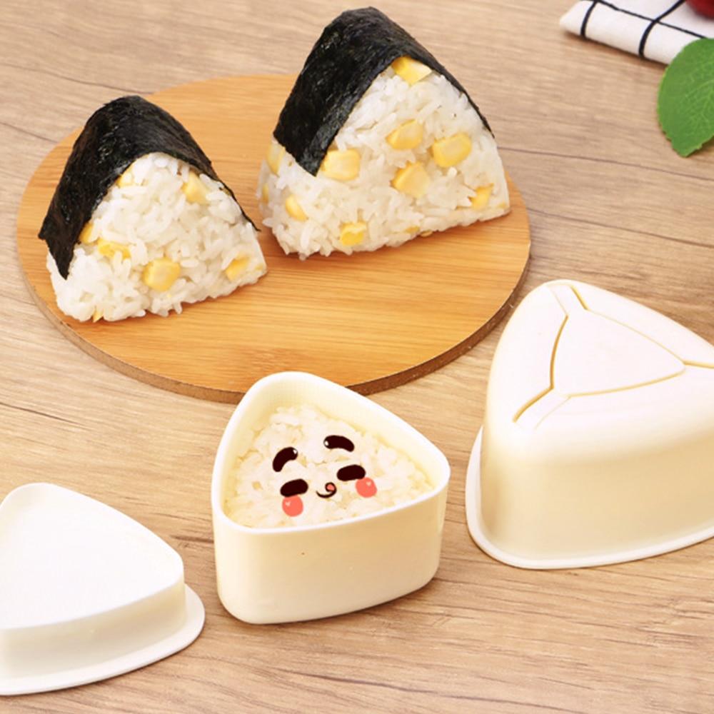 3 шт./компл. «сделай сам» форма для суши рисовый онигири мяч пищевой пресс треугольная форма для суши японские аксессуары для бенто наборы ку...