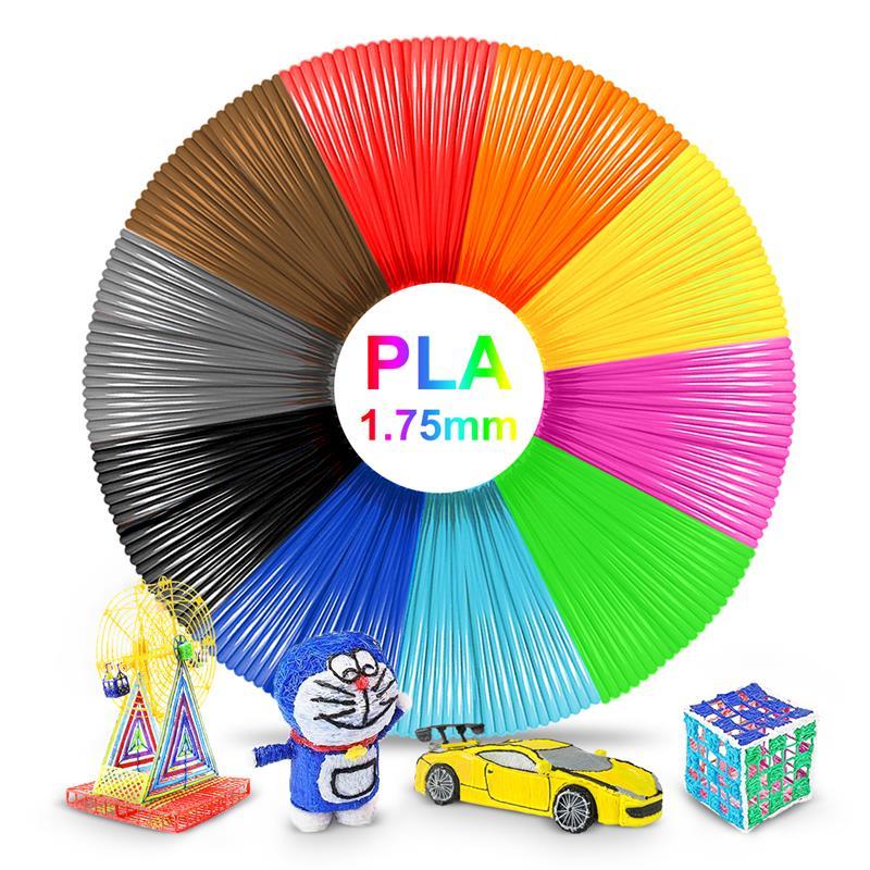PLA нити Пластик для 3D ручка печати нити 10 м 1,75 мм 3D расходных материалов для печати развивающие игрушки, подарки для детей, игрушки Популярны...