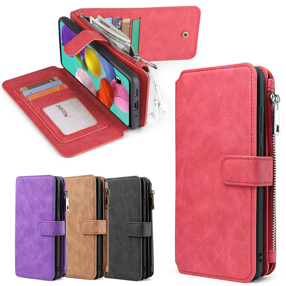 MEGSHI-007 Multifungsi tas Adsorpsi Kulit kembali cover case telepon untuk Samsung M21 A50 A51 A70 A71 S8 S9 S10 S20 note20