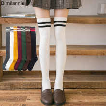 Sexy Medias Striped Long Socks Women Over Knee Thigh High The Stockings For Ladies Girls 2019 Warm