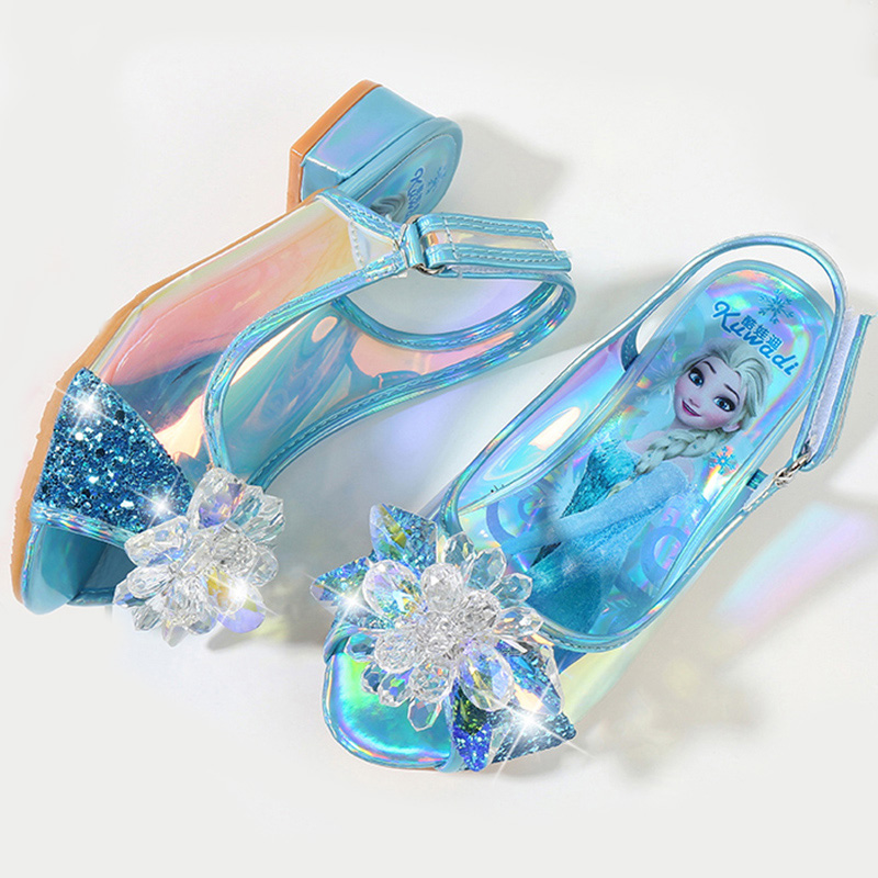 Princess Children Girls Sandals,kids Else Shoes For Girl,frozena Dancing And Party Shoe Rhinestone Bow Else Shoes EUR Size 25-36