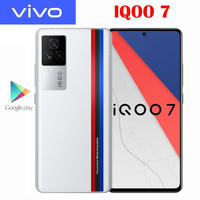 Original New Official VIVO IQOO 7 5G Smartphone Snapdragon888 6.62inch 120Hz Rate Reflash 120W Flash Charge Android 11 OS 48MP 1