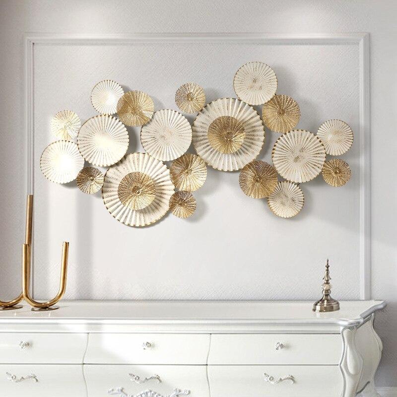 Decoración de pared de hierro de estilo europeo, decoración de pared tridimensional, decoración creativa de sala de estar - 4