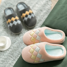 Slippers Warm House Slides Winter Shoes Floor Anti-Slip Plush-Lovers Woman Indoor Slient