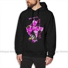 Jojo Hoodie Killer Queen Hoodies Cotton Loose Pullover Hoodie Male Red XXXL Winter Nice Long Sleeve Hoodies