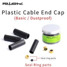 RISK 4/5mm bisiklet fren kablo uç kapağı conta halkası parçaları toz geçirmez dış kablo tüpü uç ucu kap MTB yol bisikleti vites fren