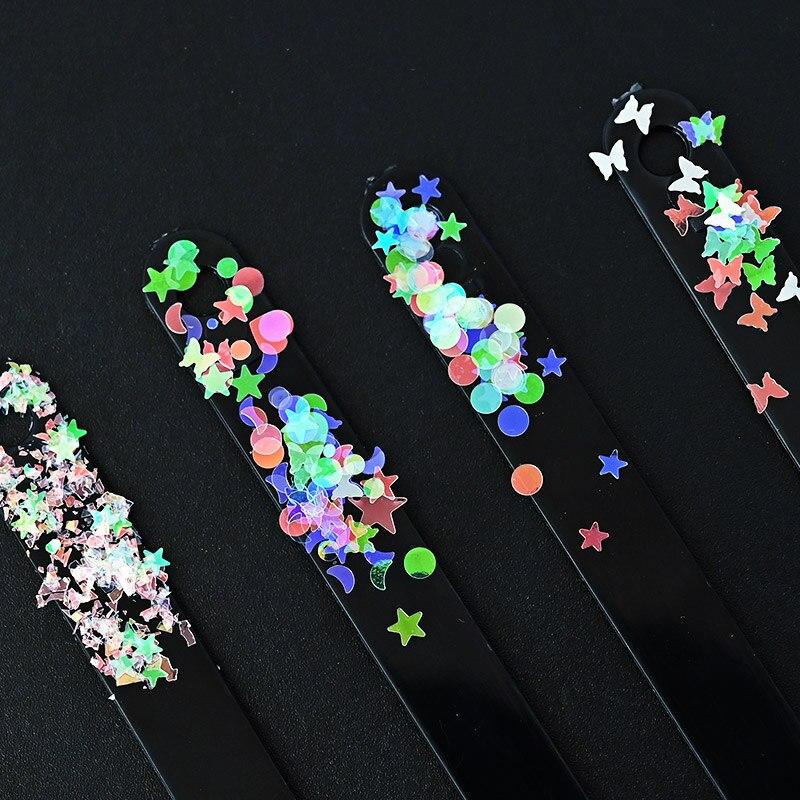 5g/Bag Transparent Holo Nail Art Flakes Mixed Shape Rainbow Shining 3D Polish Manicure DIY Decorations Sparkling Nail Sequins