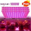 Phytolamp полный спектр светодиодный Grow Lights Крытый 1080W Панель ультратонкий Панель лампа для комнатных растений садоводства лампа 1/2/3 шт