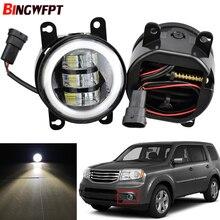 Car LED Fog Light H11 Angel Eye DRL Daytime Running Light 12V For Honda Pilot 3.5L V6 2012 2013 2014 2015 For Insight 2010 2014