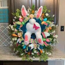Easter-Decoration Stuffed-Toys Kawaii with Ears Cartoon Cute Festival Door-Wreath Thief