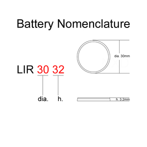 Image 2 - Li ion Rechargeable Battery LIR3032 3.7V 1 PCS Lithium Button Built in Coin Cell Batteries Watch Cells LIR 3032 Replaces CR3032