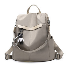 One-Shoulder Dual Use Backpack Female 2019 New Style Korean-style-Oxford Cloth Versatile Casual Anti-Theft Travel Schoo