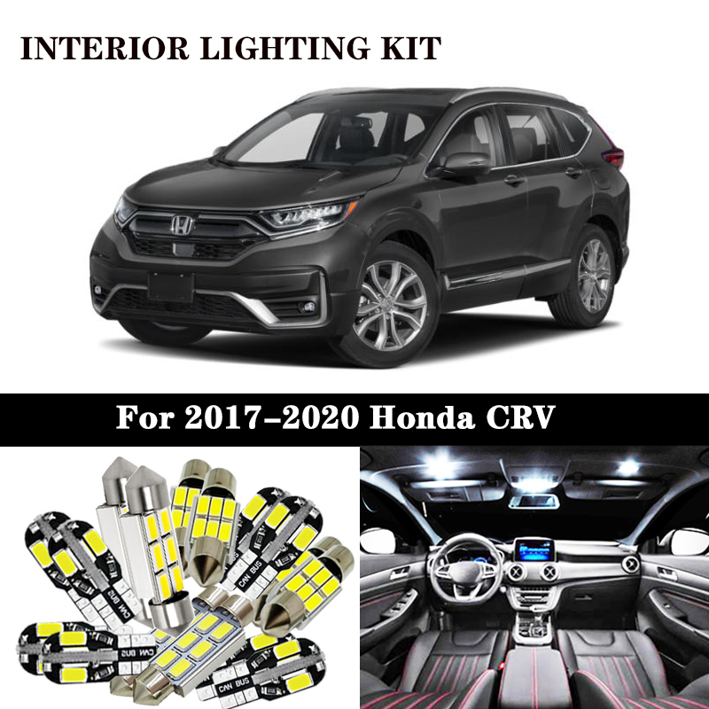 White Canbus <font><b>led</b></font> Car interior lights Package Kit for <font><b>Honda</b></font> <font><b>CRV</b></font> CR-V 1997-2017 <font><b>2018</b></font> 2019 2020 Accessories <font><b>led</b></font> interior lights image