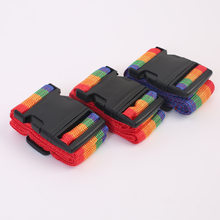 5 Manufacturers Direct Selling Luggage Packing Belt A- line Rainbow Suitcase Band Card Debit Luggage Strap(China)