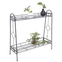 2 Layers Plant Shelf European Style Flower Pot Rack Metal Bonsai Potted Plant Stand Home Balcony Garden Flowerpot Shelf