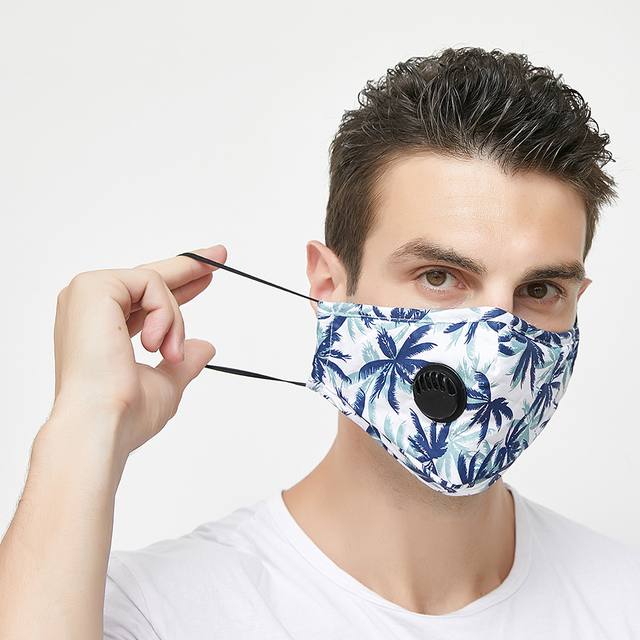 1set Women Cotton Mask Anti Dust Air Pollution Breath Activated Carbon Filter Black Mouth Mask Men Reusable Face Masks 2