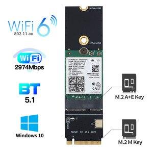 3000 Мбит/с для Intel AX200 Wifi 6 беспроводная карта Bluetooth 5,1 M.2 A + E ключ к M.2 M ключ NVMe SSD порт сетевой Wlan Wifi адаптер