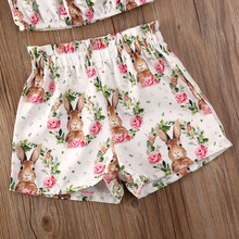 Easter Girl Ruffle Strap Top Pants Outfit Set