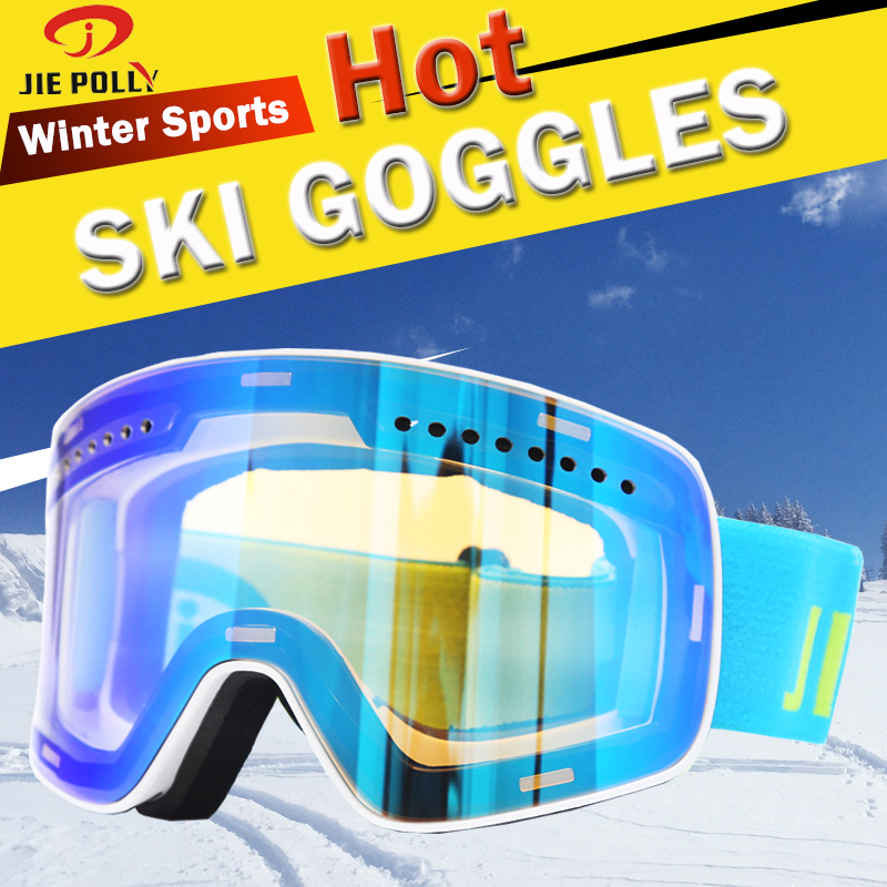 Ski Goggles Double Layers Lens  Brand Winter Snow Sports Snowboard Goggles Anti-fog UV Protection Adult Skiing Mask  Magnet