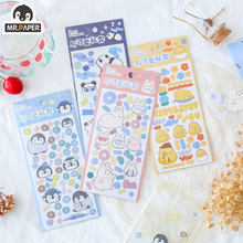 Deco Stickers Diary Stationery Scrapbooking Washi Little-Animals Mr.paper 4-Designs Cute Kawaii