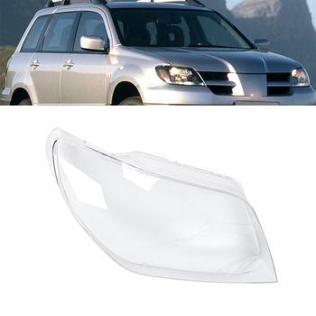 Car Clear Front Headlight Lens Cover Replacement Shell for Mitsubishi Outlander 2004 2005 2006