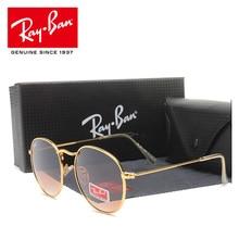 RayBan RB3447 мужские круглые солнцезащитные очки, поляризационные Мужские Женские винтажные очки, аксессуары, солнцезащитные очки, ретро очки для вождения