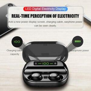 Image 3 - Оригинальные наушники Bluetooth, беспроводная гарнитура TWS V12, новые беспроводные наушники 4000 мАч, зарядная коробка для игр с водонепроницаемым IPX5