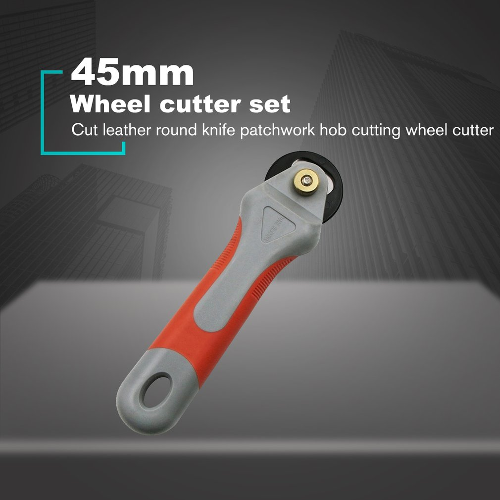 45mm Rotary Cutter Set Blades Fabric Circular Quilting Cutting Patchwork Leathercraft Sewing Tool Quilter Leather Cutter