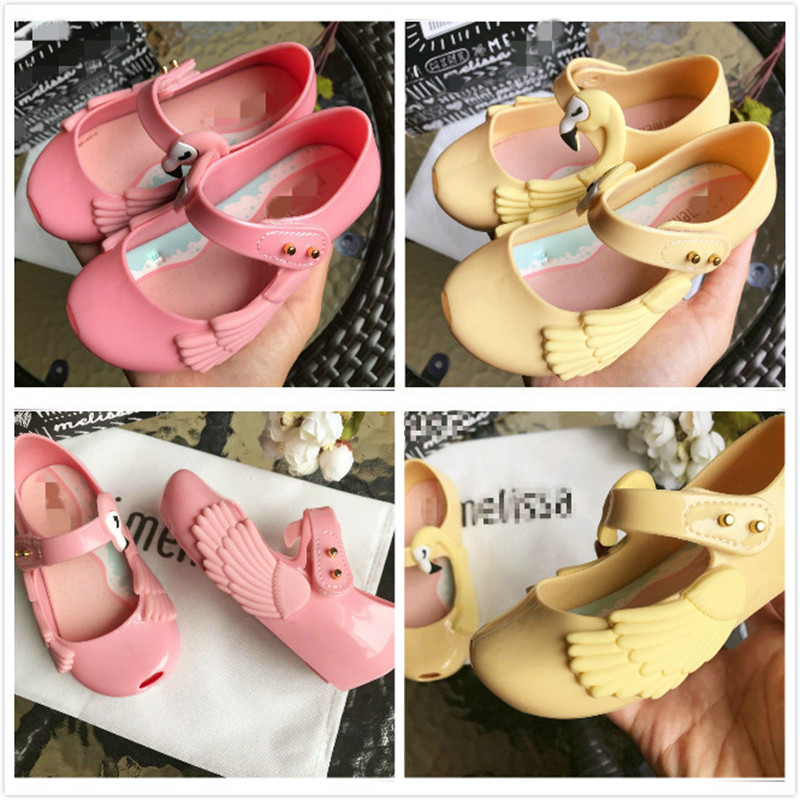 Mini Melissa Ultragirl Theme 2019 New Original Girl Jelly Sandals Kids Sandals Children Beach Shoes Toddler Shoes SH19105