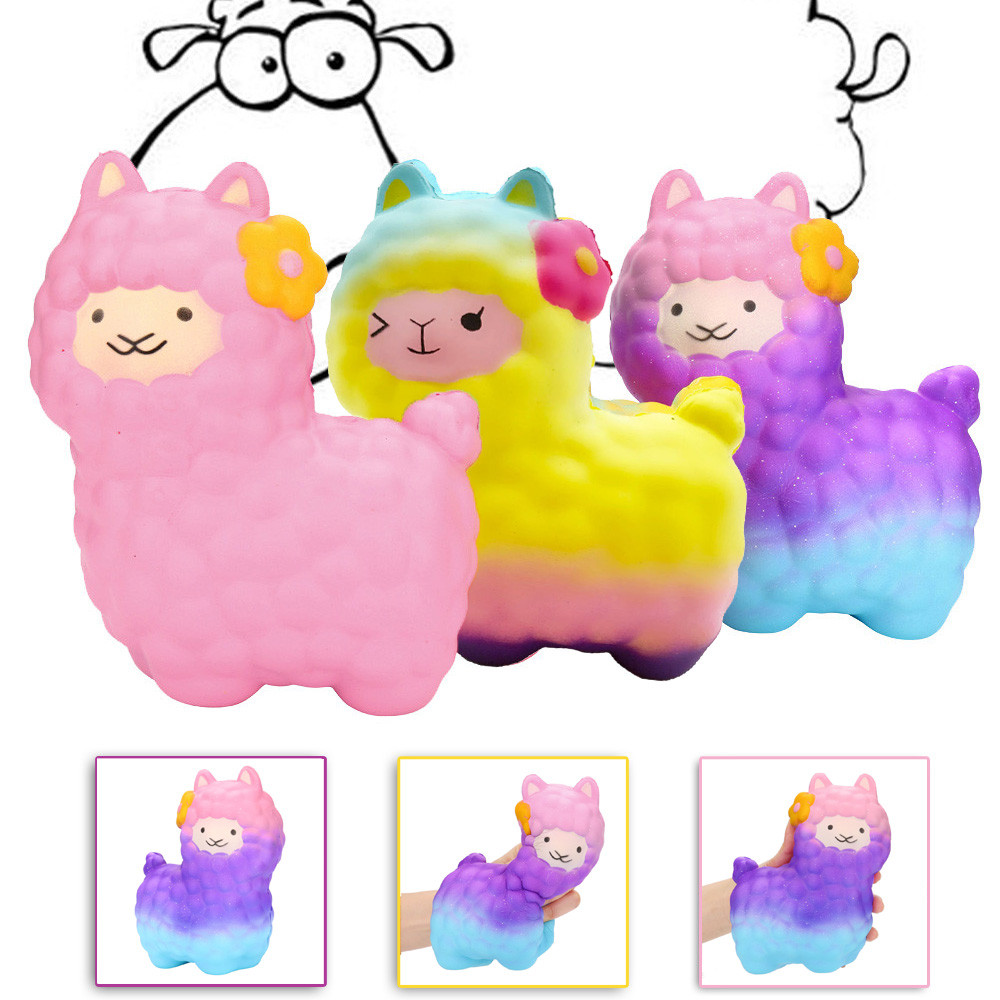 Toys For Children Jumbo Sheep Squishy Cute Alpaca Super Slow Rising Scented Fun Animal Toys Kids Toys Squishy Toys Juguetes