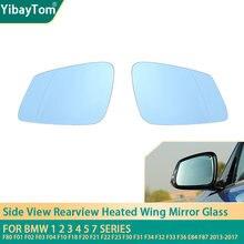 Retrovisor lado Do Espelho Aquecido Vidro Para BMW 1 2 3 4 5 7 série F20 F21 F22 F87 F32 F33 F36 F30 F31 F34 F23 F45 F46 F48 i3 2013-17