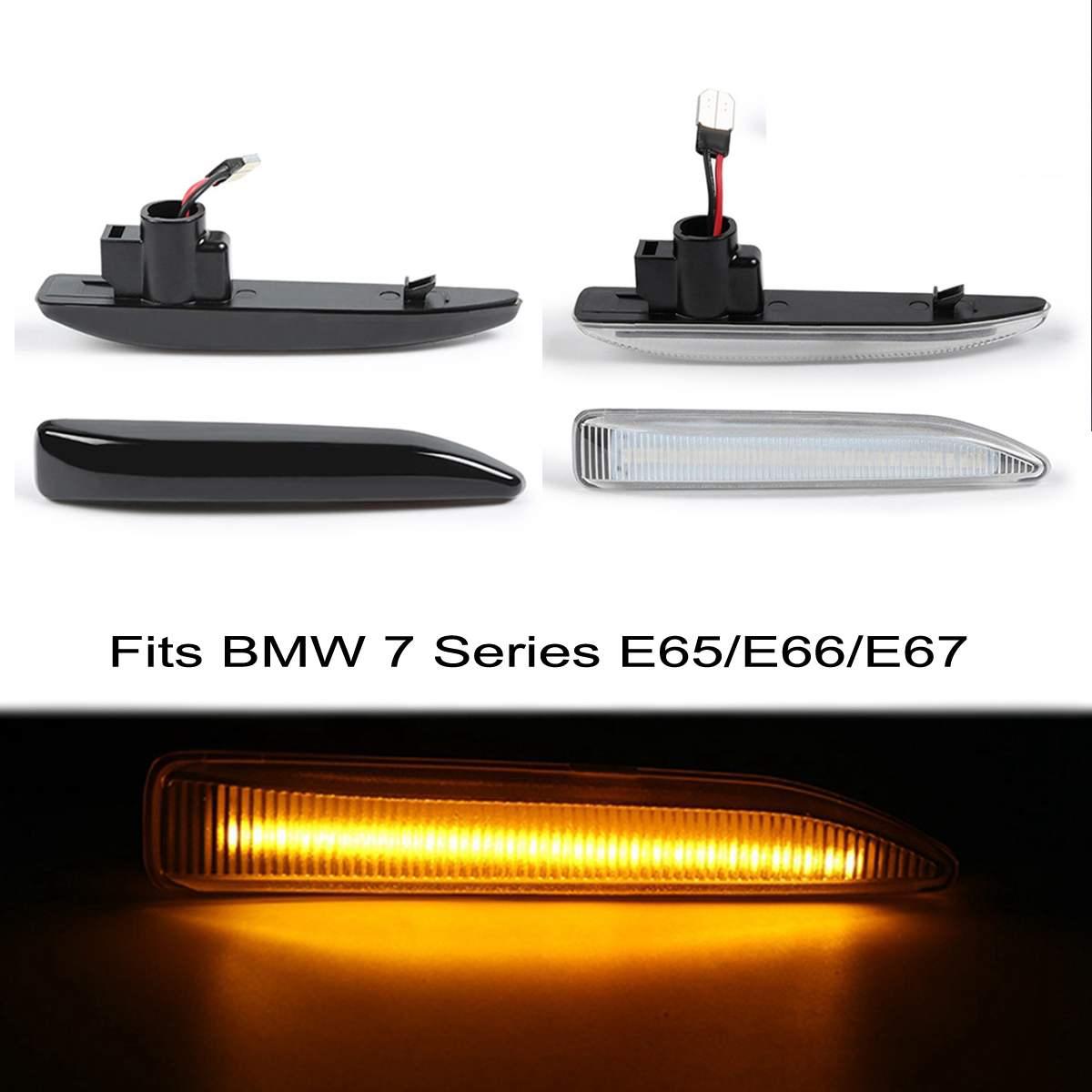 Audew 2 шт. Светодиодный Боковой габаритный индикатор, повторитель сигнала поворота, светильник вая панель, лампа указателя поворота для BMW E65 ...