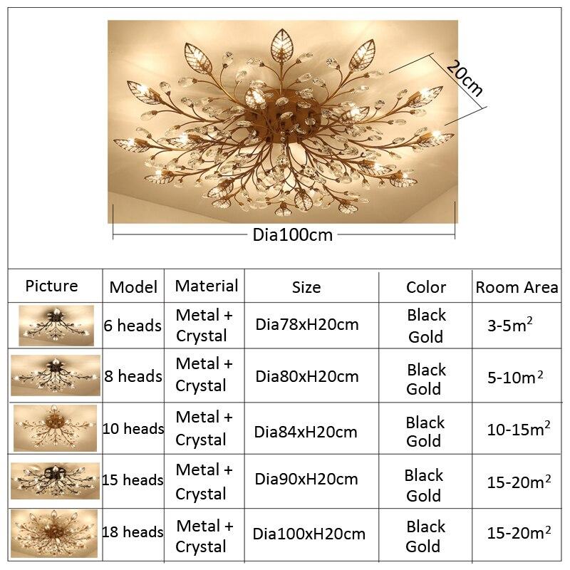 Moderno led lustre de cristal iluminação interior
