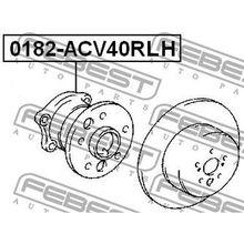 Комплект подшипника ступ. зад. лев. Toyota Camry 2.4/3.0 01 FEBE
