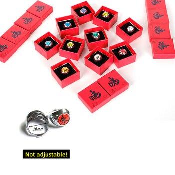 Anime Cosplay Naruto Ring With Box Akatsuki Itachi Pain Orojimaru Ring Finger Adult Ninja Props Accessories Cool Stuff Gift 2