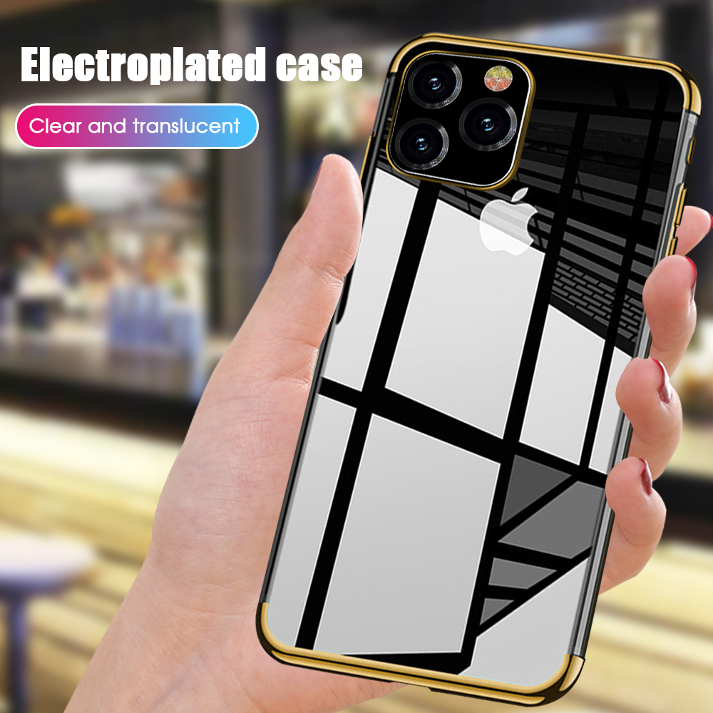 Plating Clear Silicone Case For IPhone 11 11Pro 11Promax For IPhone XS Max XR X 6S 7 8 Case Transparent Soft TPU Cover Phone Bag