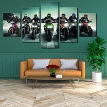 Картина на холсте для езды на мотоцикле, 5 шт.