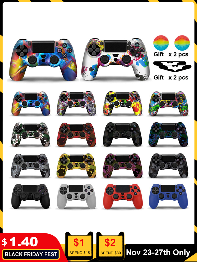 Case Cover Skin-Protection-Case Controle Gamepad SONY Slim Soft-Silicone Playstation 4