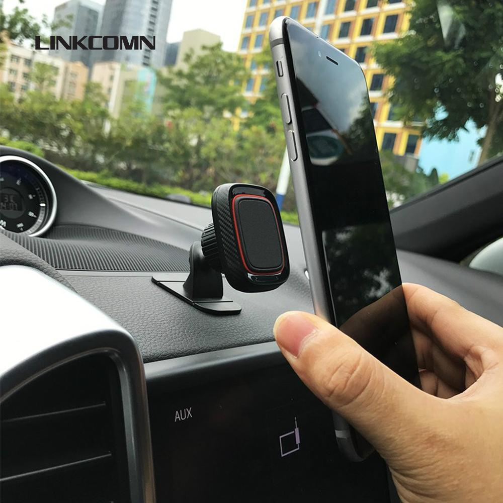 LINKCOMN Magnetic Car Phone Holder, Strong 3M Pad, Built-in 4 Strong Magnets, 360 Degree Rotation, For IPhone Huawei Xiaomi Oppo