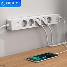 ORICO USB Smart Мощность розеток 4000 w с клеем доска разъем 2 AC 5AC точек 2 Зарядка через usb Порты для офис plug
