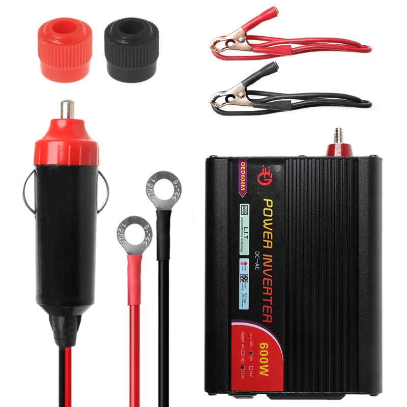 Image 5 - New 300W/400W/500W/600W Power Inverter Converter DC 12V to 220V AC Cars Inverter with Car Adapter Drop Shipping Support-in Car Inverters from Automobiles & Motorcycles