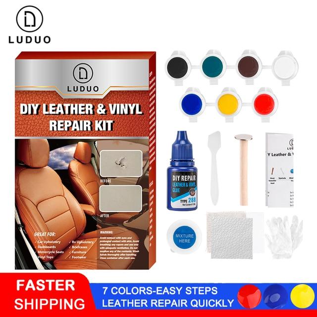 LUDUO sıvı deri vinil tamir kiti restoratör mobilya araba koltukları kanepe ceket çanta kemer ayakkabı temizleyici cilt onarım yenilemek