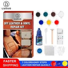 Luduo kit de reparação vinil couro líquido restorer móveis assentos do carro sofá jaqueta cinto sapatos mais limpo reparação da pele refurbish