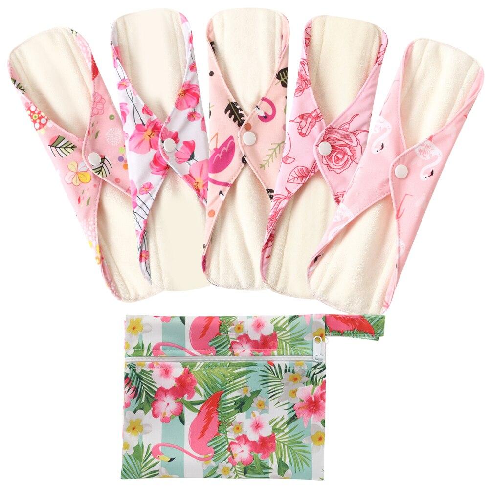 6 шт./компл. женская гигиеническая прокладка, многоразовая моющаяся женская гигиеническая подкладка
