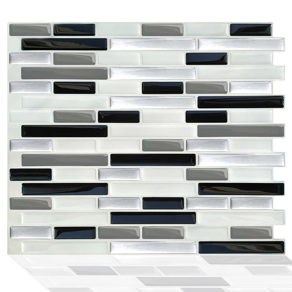 Peel Selbst Klebstoff Mosaik Marmor Fliesen Backsplash Wand Aufkleber Vinyl Badezimmer Küche Home Decor