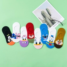 Cartoon Boat Socks Women American Casual Socks Kawaii Mickey Invisible Silicone Low Ankle Socks Donald Duck Print Cotton Sox десницкий андрей сергеевич письма спящему брату