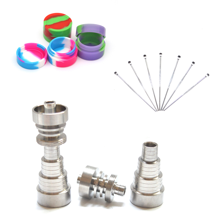 1 set Domeless 6 IN 1GR2 Titanium Nail 10/14/18mm - Male/Female - Oral Hygiene